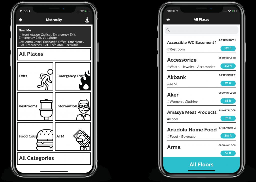 Sesli Adımlar mobile application for accessible venues