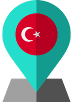 turkie flag location