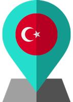 turkie flag location