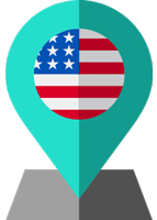 usa flag location
