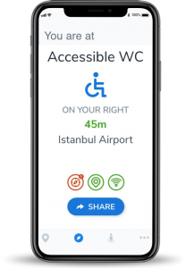 accessible navigation for special needs - görme engelliler için navigasyon